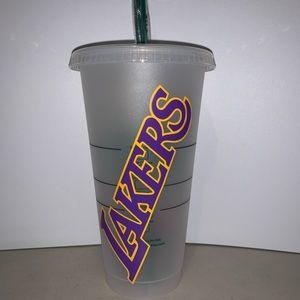 Lakers custom Starbucks reusable tumbler cup